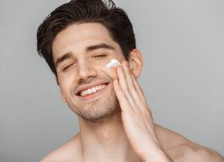 mężczyzna kosmetyki
